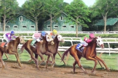 Saratoga thoroughbreds racing