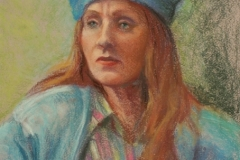 portrait-of-woman-with-hat-pastel-Tanger